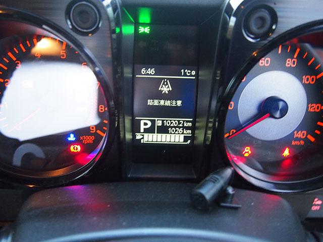 車内の外気温計